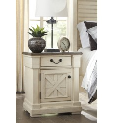 Ashley - Bolanburg One Drawer Night Stand - Antique White ( B647-191 )