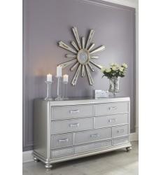 Ashley - Coralayne B650 Dresser - Silver (B650-31)