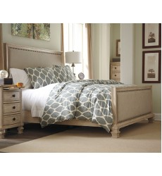 Ashley - Demarlos B693 Queen/King Bed - Parchment White
