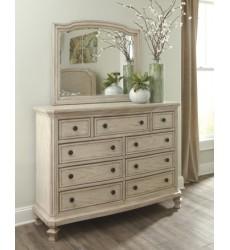 Ashley - Demarlos B693 Dresser - Parchment White (B693-31)
