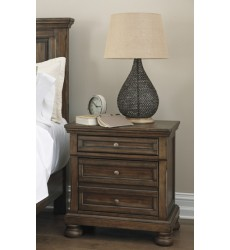 Ashley - Flynnter B719 Two Drawer Night Stand - Medium Brown (B719-92)