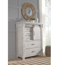 Ashley - Brashland B740 Five Drawer Chest - White (B740-46)