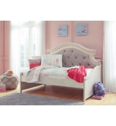 Ashley - Realyn B743 Twin/Queen/King/Cal King Bed - Chipped White (Option: Day Bed, Sleigh)