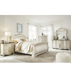 Ashley - Cassimore B750 Queen/King/Cal King Bed - Pearl Silver