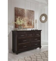 Ashley - Brynhurst B788 Dresser - Dark Brown (B788-31)