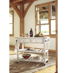 Ashley - Marlijo D300 Kitchen Cart - Multi (D300-766)