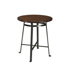 Ashley - Challiman Round DRM Counter Table - Rustic Brown ( D307-13 )