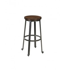 Ashley - Challiman D307 Tall Stool (2/CN) - Rustic Brown (D307-130)