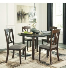 Ashley - Charnalo D362 Round Dining Room Table Set (5/CN) - Medium Brown (D362-225)
