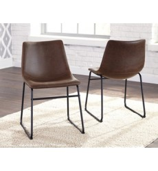 Ashley - Centiar D372 Dining UPH Side Chair (2/CN) - Two-tone Brown (D372-01)