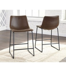 Ashley - Centiar D372 Upholstered Barstool (2/CN) - Two-tone Brown (D372-124)