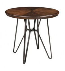 Ashley - Centiar Round DRM Counter Table - Two-tone Brown ( D372-13 )