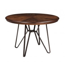 Ashley - Centiar Round Dining Room Table - Two-tone Brown ( D372-15 )