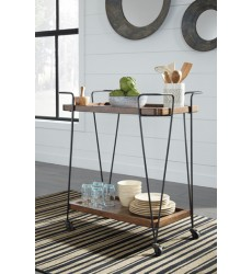 Ashley - Moddano D376 Kitchen Cart - Brown/Black (D376-86)