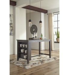 Ashley - Caitbrook D388 RECT Dining Room Counter Table - Dark Gray (D388-13)