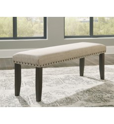 Ashley - Rokane D397 Large Upholstery Dining Room Bench - Brown (D397-00)