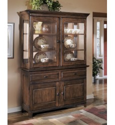Ashley - Larchmont Dining Room Buffet - Burnished Dark Brown ( D442-80 )