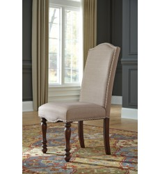 Ashley - Baxenburg D506 Dining Upholstery Side Chair (2/CN) - Brown (D506-01)