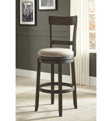 Ashley - Drewing D538 Tall Upholstery Swivel Barstool(2/CN) - Brown (D538-130)