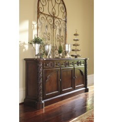 Ashley - North Shore D553 Dining Room Buffet - Dark Brown (D553-80)