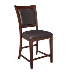 Ashley - Collenburg D564 Upholstered Barstool (2/CN) - Dark Brown (D564-124)