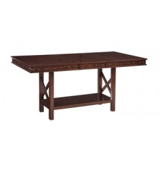 Ashley - Collenburg D564 Rectangular Dining Room Counter EXT Table - Dark Brown (D564-32)