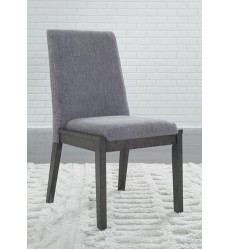 Ashley - Besteneer D568 Dining UPH Side Chair (2/CN) - Dark Gray (D568-01)