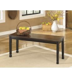Ashley - Owingsville D580 Large Dining Room Bench - Black/Brown (D580-00)