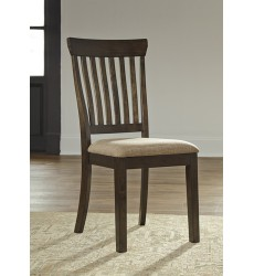 Ashley - Alexee D590 Dining UPH Side Chair (2/CN) - Dark Brown (D590-01)