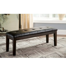 Ashley - Haddigan D596 Large Upholstery Dining Room Bench - Dark Brown (D596-00)