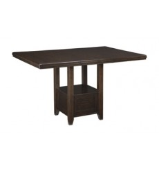 Ashley - Haddigan D596 Rectangular Dining Room Counter EXT Table - Dark Brown (D596-42)