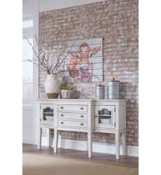 Ashley - Danbeck Dining Room Server - Chipped White ( D603-60 )