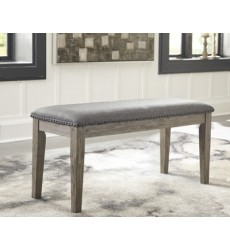 Ashley - Aldwin D617 Upholstered Bench - Gray (D617-00)