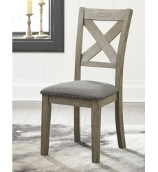 Ashley - Aldwin D617 Dining Upholstery Side Chair (2/CN) - Gray (D617-01)