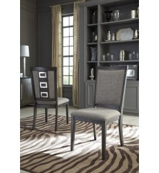 Ashley - Chadoni D624 Dining Upholstery Side Chair (2/CN) - Gray (D624-01)