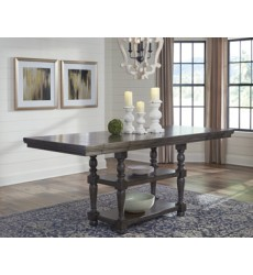 Ashley - Audberry D637 Rectangular Dining Room Counter EXT Table - Dark Gray (D637-32)
