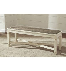 Ashley - Bolanburg D647 Large UPH Dining Room Bench - Antique White (D647-00)