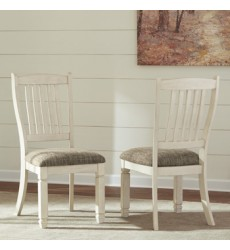 Ashley - Bolanburg D647 Dining UPH Side Chair (2/CN) - Antique White (D647-01)
