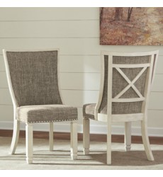 Ashley - Bolanburg D647 Dining UPH Side Chair (2/CN) - Antique White (D647-02)