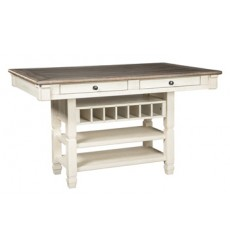Ashley - Bolanburg RECT Dining Room Counter Table - Antique White ( D647-32 )