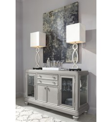 Ashley - Coralayne D650 Dining Room Server - Silver Finish (D650-60)