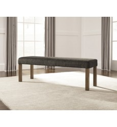 Ashley - Tamilo D714 Large Upholstery Dining Room Bench - Gray/Brown (D714-00)
