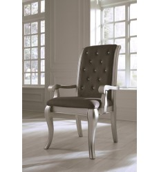 Ashley - Birlanny D720 Dining UPH Arm Chair (2/CN) - Silver (D720-01A)