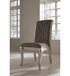 Ashley - Birlanny D720 Dining UPH Side Chair (2/CN) - Silver (D720-01)
