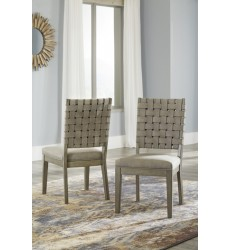 Ashley - Chapstone D732 Dining Upholstery Side Chair (2/CN) - Gray (D732-02)