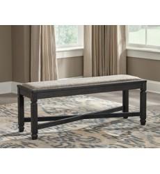 Ashley - Tyler Creek D736 Upholstered Bench - Black/Gray (D736-00)