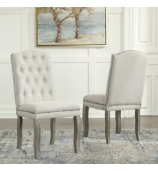 Ashley - Borlend D738 Dining Upholstery Side Chair (2/CN) - Two-tone (D738-01)