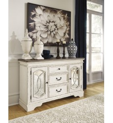 Ashley - Realyn D743 Dining Room Server - Chipped White (D743-60)