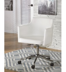 Ashley - Baraga H410 Home Office Swivel Desk Chair - White (H410-01A)