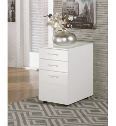 Ashley - Baraga H410 File Cabinet - White (H410-12)